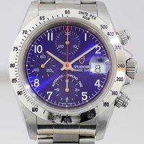 Tudor Prince Date Chronograph Blue Traumblatt Oysterband Top rar