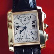 Cartier Tank Francaise Chronograph Chronoflex 18k Yellow Gold