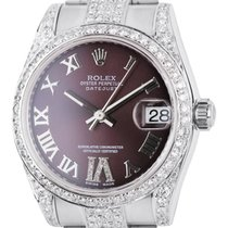 Rolex DateJust 31mm Steel Diamond Set Custom Watch 178240