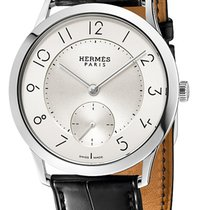 Hermès Slim d Silver Dial Automatic Men's Watch