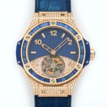 Hublot Rose Gold Big Bang Pave Diamond Tourbillon Ref....