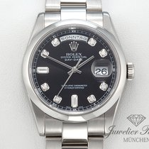 Rolex DayDate Weissgold 750 Diamanten 118209 Automatik