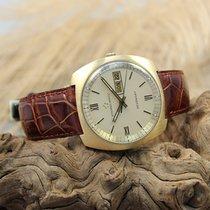 Eterna -Matic Sevenday Vintage Herren Armbanduhr 750er Gelbgold