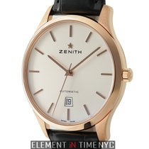 Zenith Captain Central Second 18k Rose Gold 40mm Silver Dial