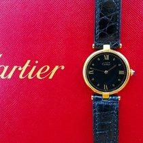 Cartier Vermeil Silber 925 Elegante Armbanduhr 30mm NOS...