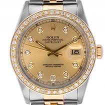 Rolex Datejust Custom Stahl Gelbgold Diamond Automatik Armband...