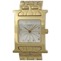 Hermès H Hour 18k Yellow Gold Quartz Watch HH1.285