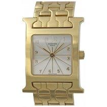 Hermès H Hour 18k Yellow Gold Quartz Watch HH1.285
