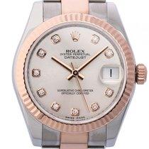 Rolex Datejust Medium Stahl Roségold Everose Diamond Automatik...