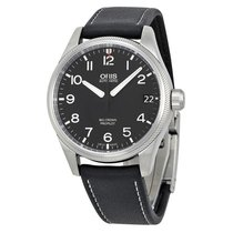 Oris Big Crown Propilot Automatic Black Dial Leather Men's...