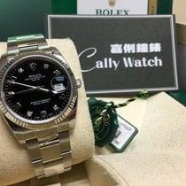 ロレックス (Rolex) Cally - 115234 34mm Datejust Diamond Blackk Dial...