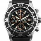 Breitling Superocean II Stahl Automatik Chronograph Armband...
