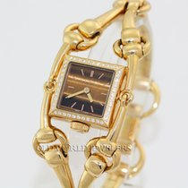 Gucci 18K Diamond Lady Signoria Series 116 Tiger Eye Dial