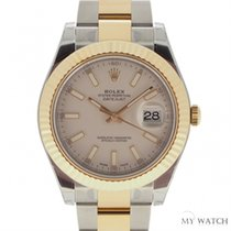 롤렉스 (Rolex) ロレックス (Rolex) Datejust II Gold And Steel White1163...