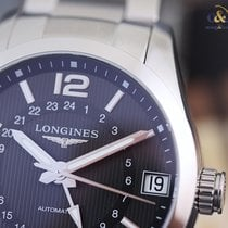 Longines Conquest Classic 24h Black Arabic Bracelet 42mm ...