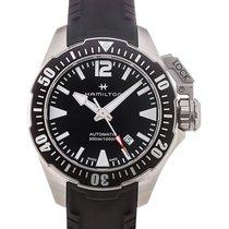 Hamilton Khaki Navy Frogman 42 Automatic Date Black Dial