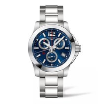Longines Conquest Blue Dial Chronograph 41mm Men's Watch...