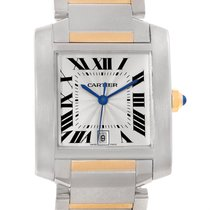 Cartier Tank Francaise Large Steel 18k Yellow Gold Watch W51005q4