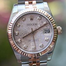 롤렉스 (Rolex) Datejust Midsize 31mm 18k Rose Gold Steel Diamond...