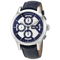 Aerowatch The Great Classics Chronograph Silver Dial Swiss...