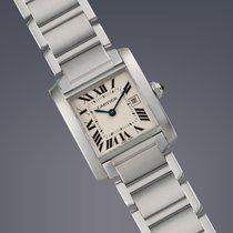 Cartier Tank Francaise stainless steel quartz watch
