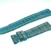 Breitling Band 18mm Croco Blau Blue Azul Strap Für Dornschlies...