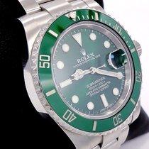 Rolex Submariner Green Hulk 116610lv Stainless Steel Ceramic...