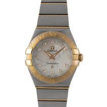 Omega Ladies Constellation Steel & 18k Rose Gold, MOP...