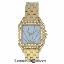 Cartier Ladies  Panthere MOP Sunrise 18K Yellow Gold Diamonds...