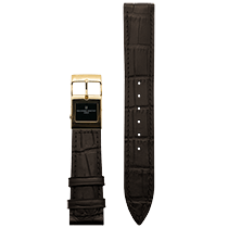 Frederique Constant E-Strap Dark Brown Yellow Gold Plated 22mm