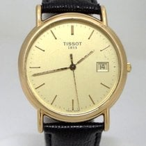 Tissot Mens Tissot 1853 18k Yellow Gold Date Dial Black...