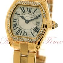 Cartier Roadster Small, Silver Dial, Diamond Bezel - Yellow...