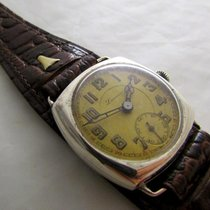 Laverna vintage rare WW2 era silver watch serviced