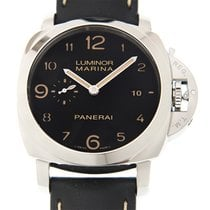 パネライ (Panerai) New  Luminor Stainless Steel Black Automatic...