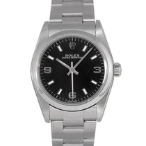Rolex Mid Size Oyster Perpetual Black Dial, Ref: 77080