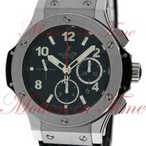 Hublot Big Bang 44mm, Black Dial - Stainless Steel on Strap
