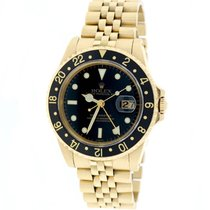 Rolex GMT-Master Yellow Gold 40MM Black Dial/Bezel Jubilee 16758