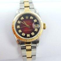 Rolex Datejust Damenuhr Mit Brillanten Stahl/gold 69173 Box...