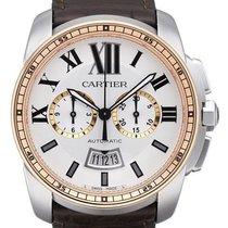 Cartier Calibre de Cartier Chronograph Stahl / RG W7100043