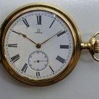 Omega Sprungdeckel-Taschenuhr - Gold 585  - um 1907