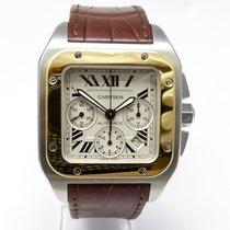 Cartier Santos 100 XL Chronograph Gold Stahl LB W20091X7 2014