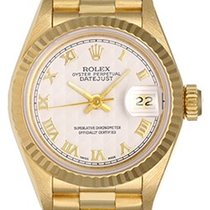 Rolex President Ladies 18k Yellow Gold Watch Ivory Dial 79178