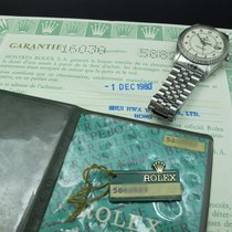 "Rolex DATEJUST 16030 SS Original White ""Boiler Gauge""..."