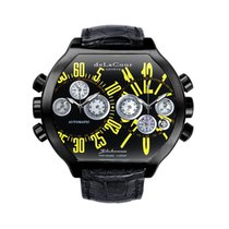 DeLaCour Bichrono S2 Steel PVD Black And Yellow