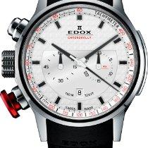 Edox WRC Chronorally Chronograph Stahl Carbon Kautschuk Quarz