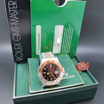 Rolex GMT MASTER 2-Tone 16753 Root Beer Nipple Dial with Full Set