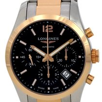Longines Conquest Classic Automatic Chrono Steel & RG Mens...