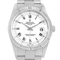 Rolex Date White Dial Stainless Steel Mens Watch 15210