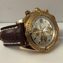 Breitling Chronomat Evolution Yellow Gold Pearl Dial 18 krt...
