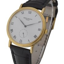 Patek Philippe 3919J Calatrava Ref No. 3919 in Yellow Gold -...